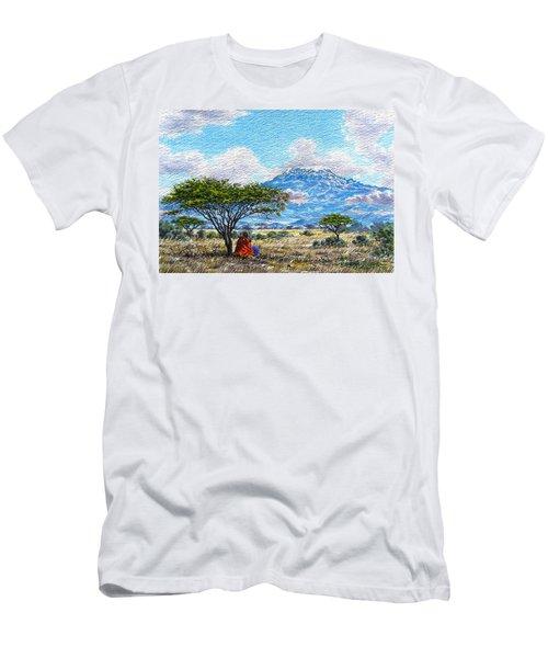 Mount Kilimanjaro Men's T-Shirt (Athletic Fit)