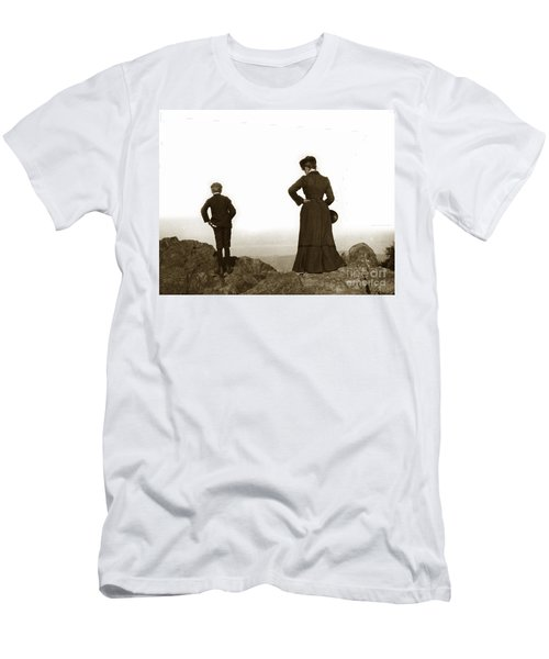 Men's T-Shirt (Slim Fit) featuring the photograph Mount Tamalpais Marin County California Circa 1902 by California Views Mr Pat Hathaway Archives