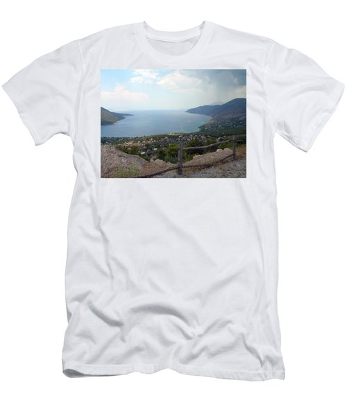 Mountain And Sea View In Greece Men's T-Shirt (Athletic Fit)