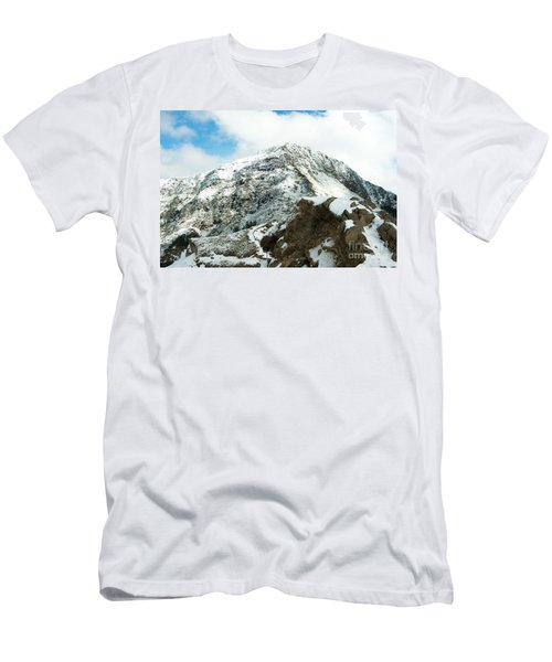 Mountain Covered With Snow Men's T-Shirt (Athletic Fit)