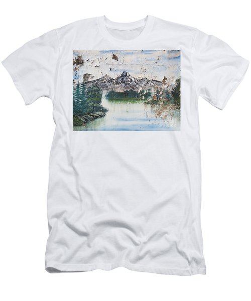 Mountain Scene Men's T-Shirt (Athletic Fit)