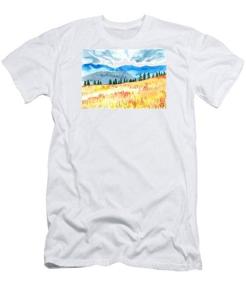 Mountain View Men's T-Shirt (Slim Fit) by Kate Black