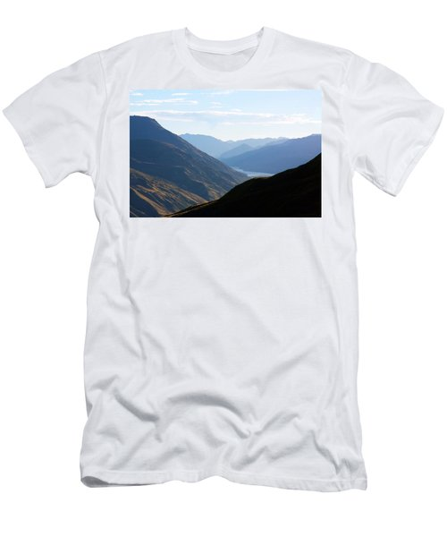 Men's T-Shirt (Slim Fit) featuring the photograph Mountains Meet Lake #3 by Stuart Litoff
