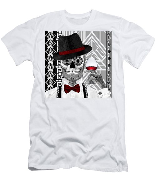 Mr. J.d. Vanderbone - Day Of The Dead 1920's Sugar Skull - Copyrighted Men's T-Shirt (Athletic Fit)