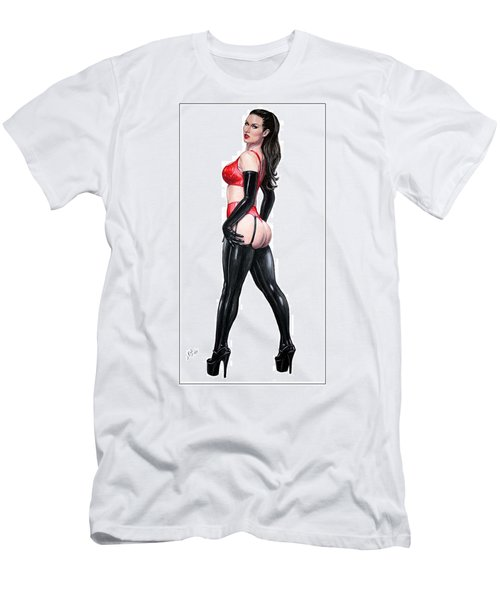 Men's T-Shirt (Slim Fit) featuring the pastel Ms. Sinister by Joseph Ogle