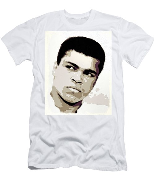 Muhammad Ali Poster Art Men's T-Shirt (Athletic Fit)