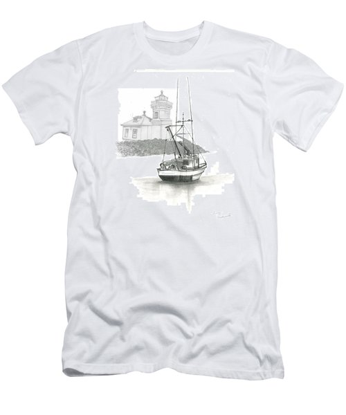 Mukilteo Lighthouse Men's T-Shirt (Slim Fit) by Terry Frederick