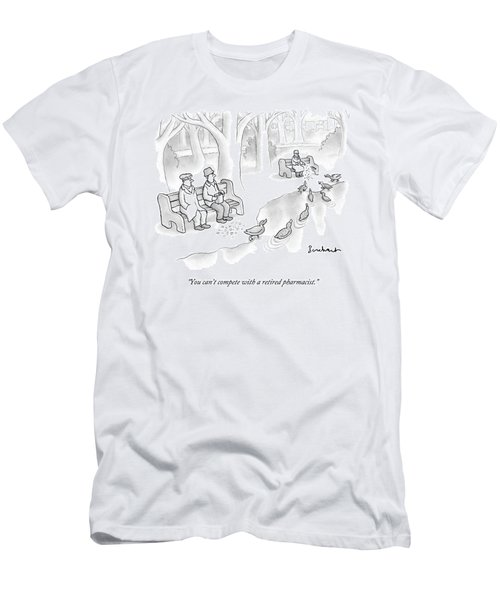 Multiple People Attempt To Feed Ducks Near A Pond Men's T-Shirt (Athletic Fit)