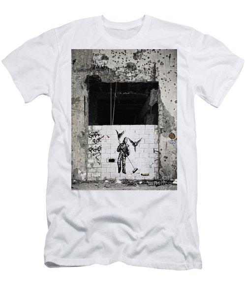Mural In Beirut  Men's T-Shirt (Athletic Fit)