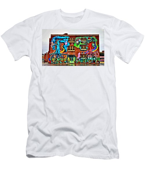Mural On School Men's T-Shirt (Athletic Fit)