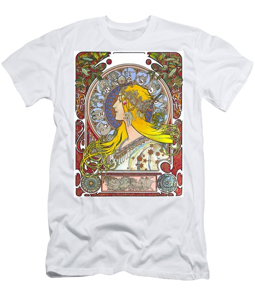 My Acrylic Painting As An Interpretation Of The Famous Artwork Of Alphonse Mucha - Zodiac - Men's T-Shirt (Athletic Fit)