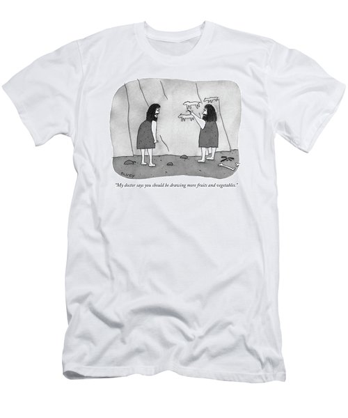 My Doctor Says You Should Be Drawing More Fruits Men's T-Shirt (Athletic Fit)