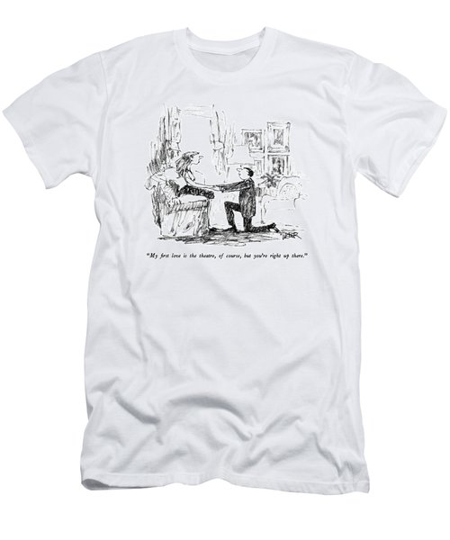My First Love Is The Theatre Men's T-Shirt (Athletic Fit)