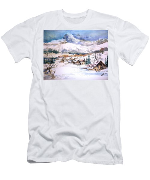 My First Snow Scene Men's T-Shirt (Athletic Fit)