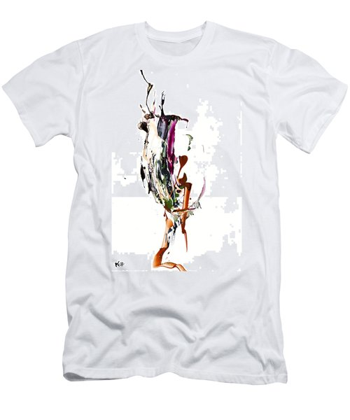 Men's T-Shirt (Slim Fit) featuring the painting My Form Of Jazz Series - 10186.110709 by Kris Haas