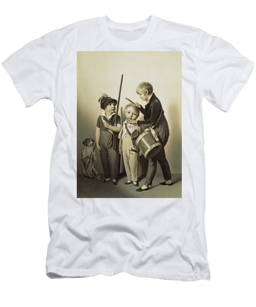 My Little Soldiers, 1809 Oil On Canvas Men's T-Shirt (Athletic Fit)
