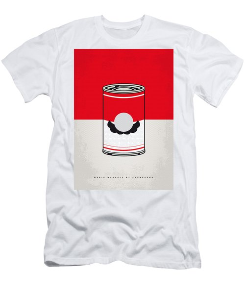 My Mario Warhols Minimal Can Poster-mario Men's T-Shirt (Athletic Fit)