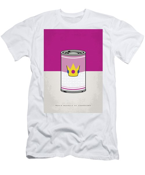 My Mario Warhols Minimal Can Poster-peach Men's T-Shirt (Athletic Fit)