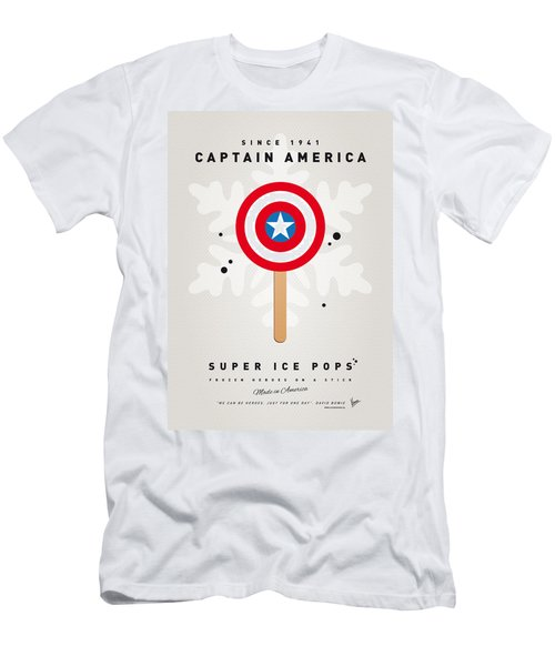 My Superhero Ice Pop - Captain America Men's T-Shirt (Athletic Fit)