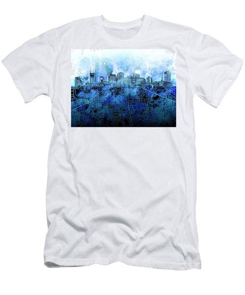 Nashville Skyline Watercolor 3 Men's T-Shirt (Athletic Fit)