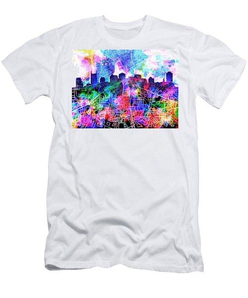 Nashville Skyline Watercolor 5 Men's T-Shirt (Athletic Fit)