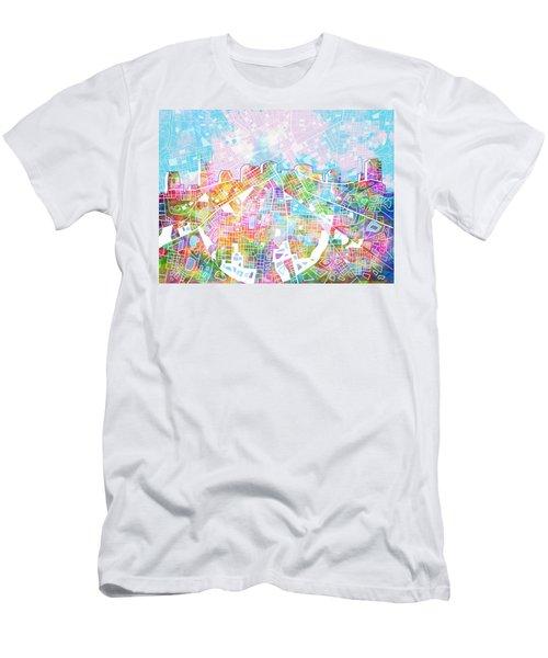 Nashville Skyline Watercolor 8 Men's T-Shirt (Athletic Fit)