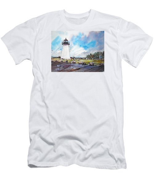 Ned's Point Light Men's T-Shirt (Slim Fit) by P Anthony Visco
