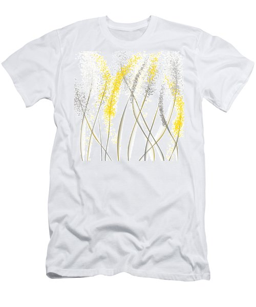 Neutral Sunshine - Yellow And Gray Modern Art Men's T-Shirt (Athletic Fit)