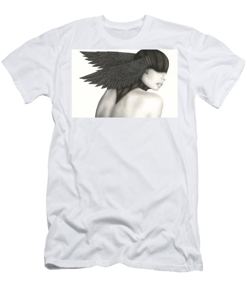 Men's T-Shirt (Slim Fit) featuring the painting Nevermore by Pat Erickson