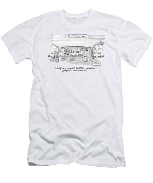 New Age Cabbie Mind If We Go Through The Park? Men's T-Shirt (Athletic Fit)