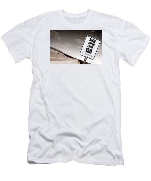 New Limits Sepia Men's T-Shirt (Slim Fit) by David Jackson