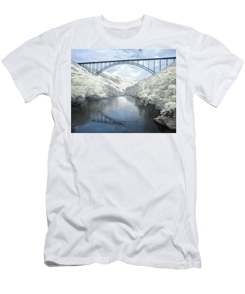New River Gorge Bridge In Infrared Men's T-Shirt (Athletic Fit)