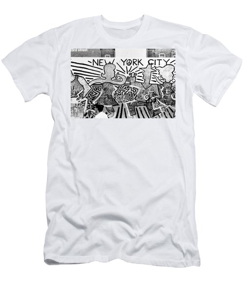 New York City Graffiti Men's T-Shirt (Athletic Fit)