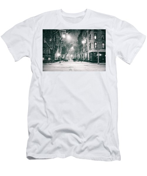 New York City - Winter Night In The West Village Men's T-Shirt (Athletic Fit)