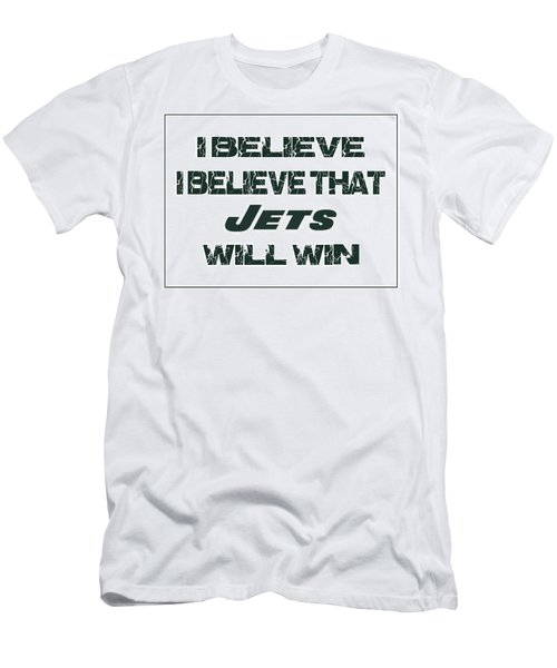 New York Jets I Believe Men's T-Shirt (Athletic Fit)