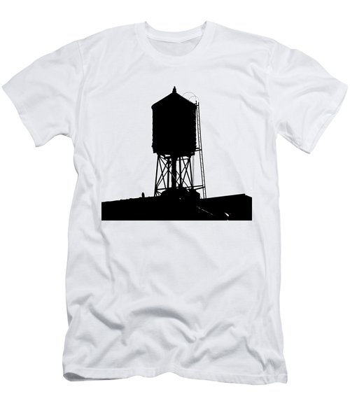 New York Water Tower 17 - Silhouette - Urban Icon Men's T-Shirt (Athletic Fit)