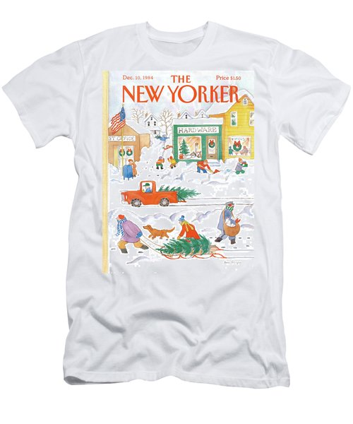 New Yorker December 10th, 1984 Men's T-Shirt (Athletic Fit)