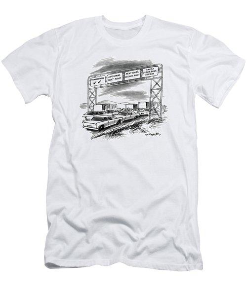 New Yorker December 1st, 1986 Men's T-Shirt (Athletic Fit)