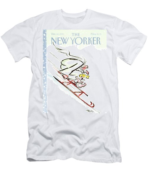 New Yorker December 30th, 1991 Men's T-Shirt (Athletic Fit)