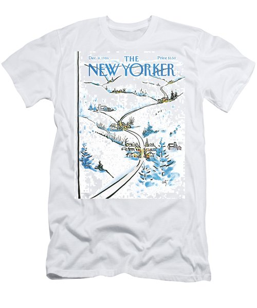 New Yorker December 8th, 1986 Men's T-Shirt (Athletic Fit)