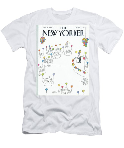 New Yorker January 2nd, 1984 Men's T-Shirt (Athletic Fit)