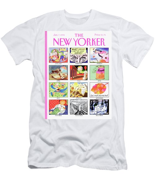 New Yorker January 7th, 1991 Men's T-Shirt (Athletic Fit)