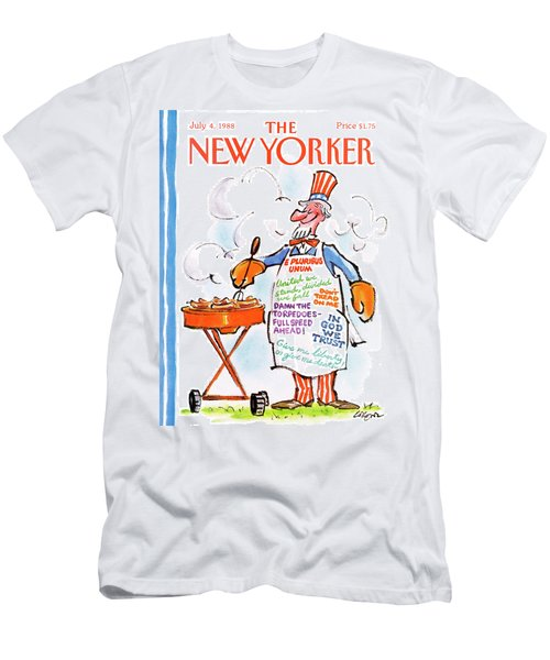 New Yorker July 4th, 1988 Men's T-Shirt (Athletic Fit)