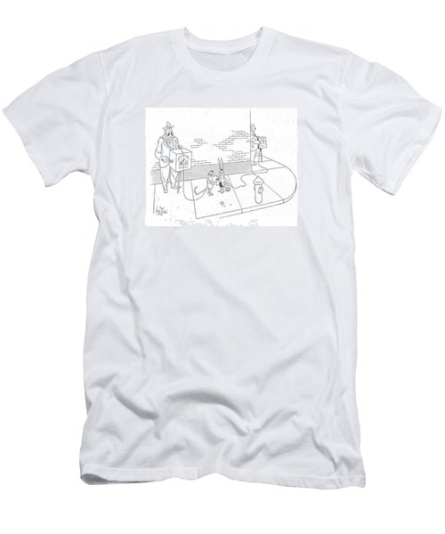 New Yorker May 22nd, 1943 Men's T-Shirt (Slim Fit) by George Price