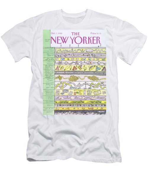 New Yorker October 1st, 1990 Men's T-Shirt (Athletic Fit)