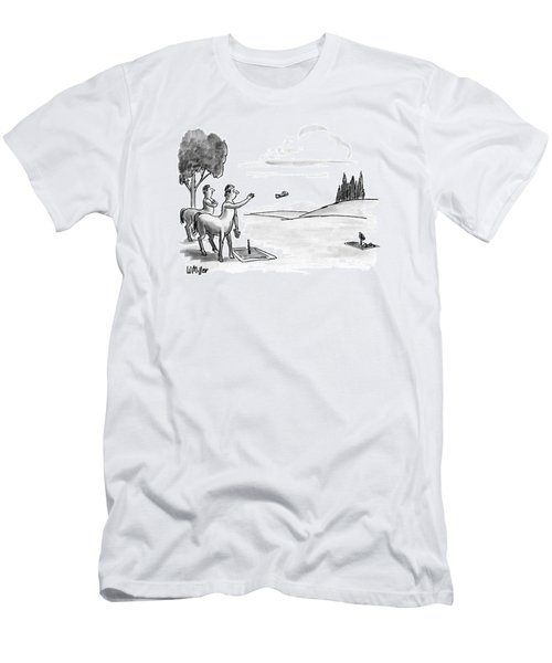New Yorker September 24th, 1990 Men's T-Shirt (Slim Fit) by Warren Miller