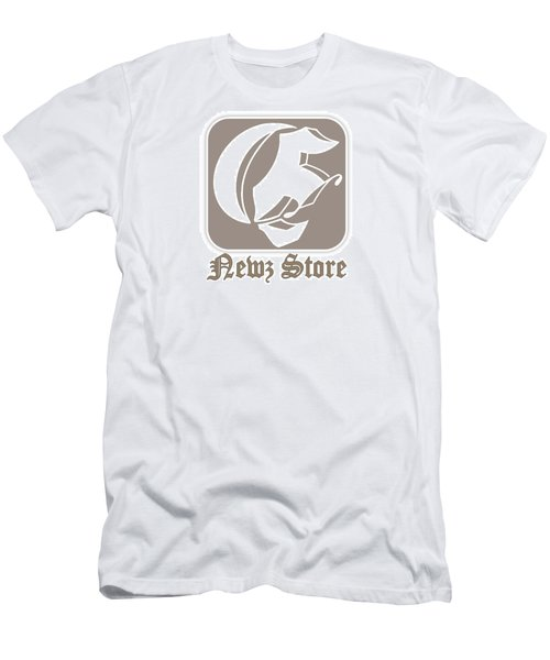 Eclipse Newspaper Store Logo Men's T-Shirt (Slim Fit) by Dawn Sperry
