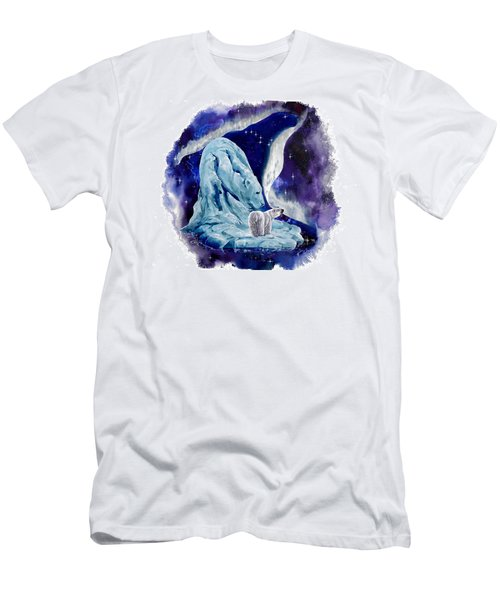 Men's T-Shirt (Slim Fit) featuring the painting Night Bear by Sherry Shipley