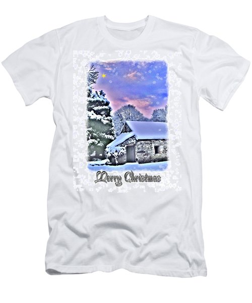 Christmas Card 27 Men's T-Shirt (Slim Fit) by Nina Ficur Feenan