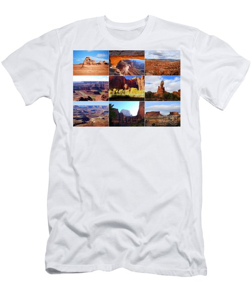 Nine Utah Landmarks Men's T-Shirt (Athletic Fit)